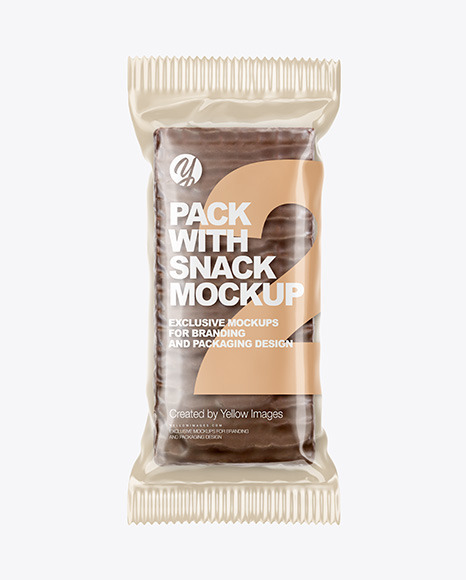 Glossy Pack with Chocolate Snack Mockup