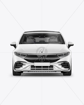 Electric Luxury Car Mockup - Front View