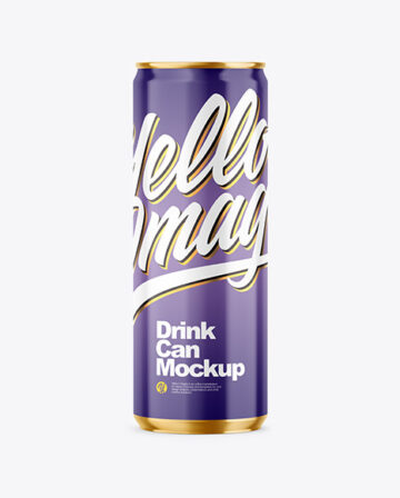 355ml Glossy Drink Can Mockup