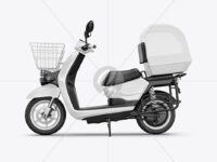 Delivery Scooter Mockup - Side View